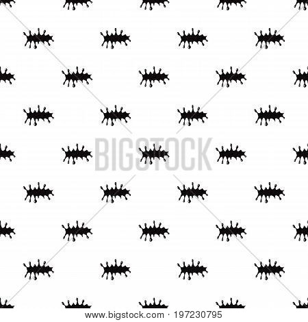 Oil spot isolated on white background. Black oil spot vector illustration