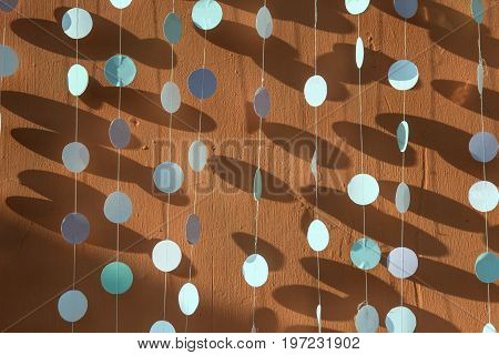 Background of colored circles excellent shadows colour