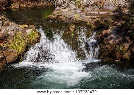 Small Waterfall In Sunshine