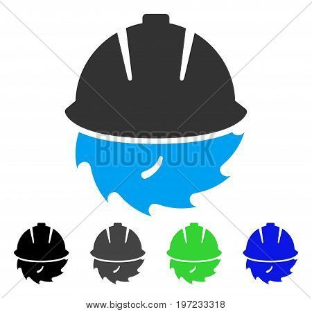 Circular Blade Safety flat vector pictograph. Colored circular blade safety gray, black, blue, green icon variants. Flat icon style for web design.