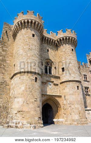 Rhodes Castle Greece Europe