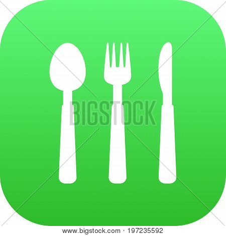 Vector Silverware Element In Trendy Style.  Isolated Cutlery Icon Symbol On Clean Background.