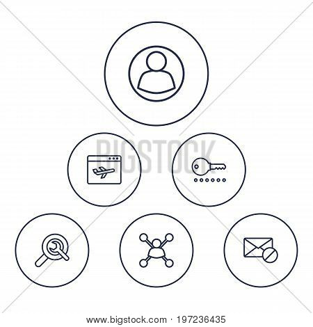Collection Of Home, Choice, Guest And Other Elements.  Set Of 6 Engine Outline Icons Set.