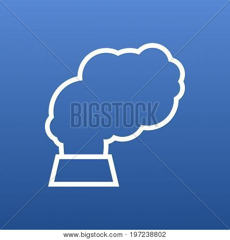 Vector Pollution Element In Trendy Style.  Isolated Contamination Outline Symbol On Clean Background.