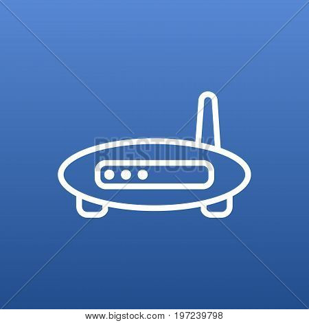 Vector Modem Element In Trendy Style.  Isolated Router Outline Symbol On Clean Background.
