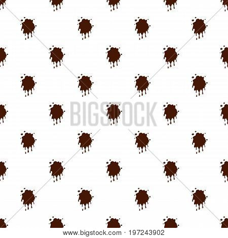 Spot of chocolate pattern seamless repeat in cartoon style vector illustration