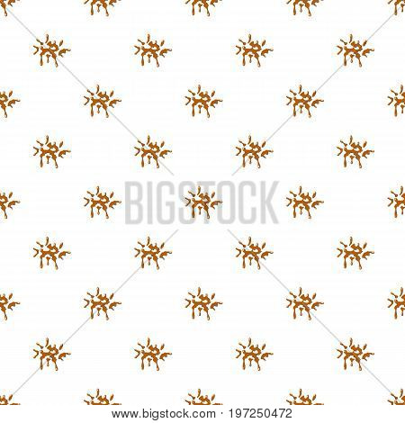 Drop of caramel pattern seamless repeat in cartoon style vector illustration