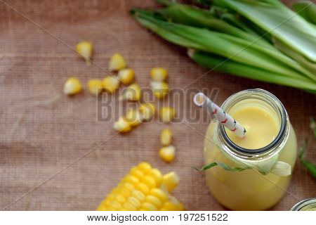Healthy Beverage, Corn Milk Jar