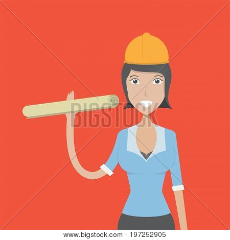 Architect Character | set of vector character illustration use for human, profession, business, marketing and much more.The set can be used for several purposes like: websites, print templates, presentation templates, and promotional materials.