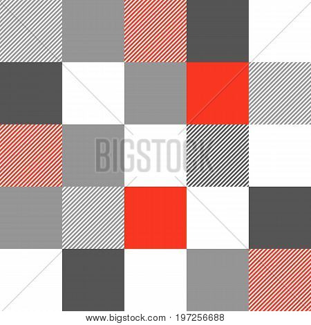Lumberjack plaid seamless pattern vector. Squares and stripes. Lumberjack style for wallpaper, wrapping paper, background