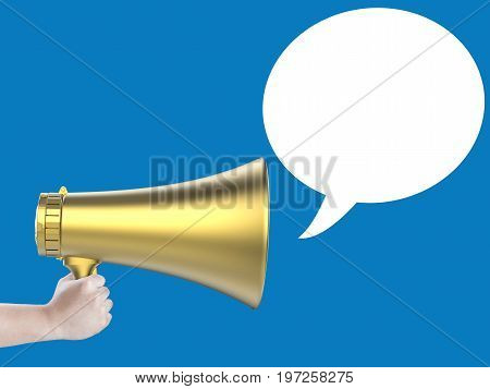Megaphone With Speech Bubble