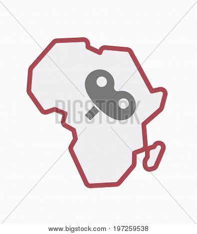 Isolated Africa Map With A Toy Crank