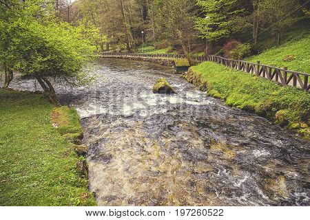 Bosna River Flow In Nature Park Vrelo Bosne 2