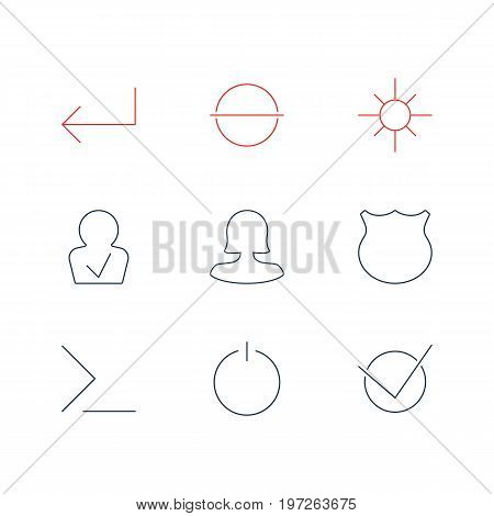 Editable Pack Of Remove, Accsess, Startup And Other Elements.  Vector Illustration Of 9 User Icons.