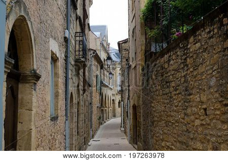 Alley in the village of Belves France