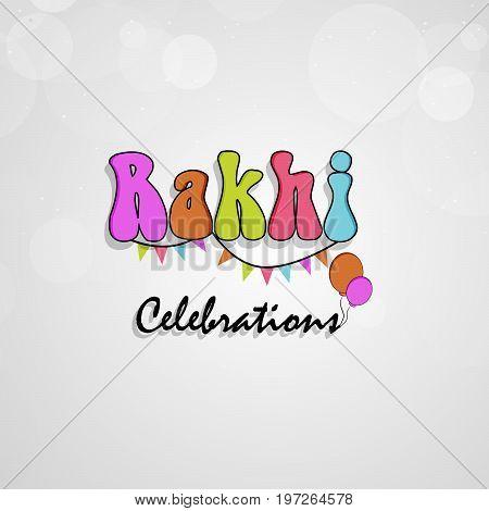 illustration of Rakhi Celebration text on the occasion of hindu festival Raksha Bandhan