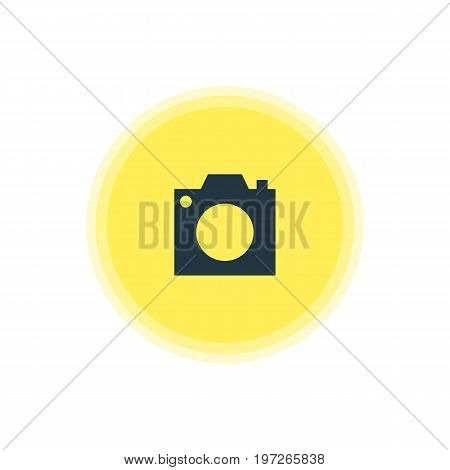 Beautiful Check-In Element Also Can Be Used As Photo Device Element.  Vector Illustration Of Camera Icon.