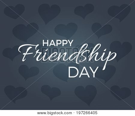 A card with text for friendship day, vector illustration