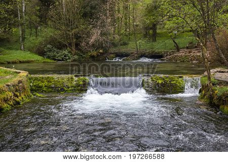 The Bosnia River Source In Nature Park Vrelo Bosne