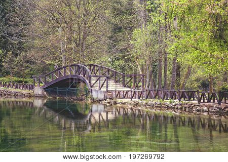 Wooden Bridge In Nature Park Vrelo Bosne 2