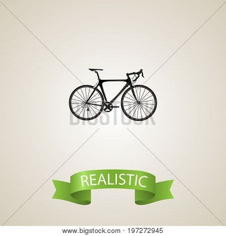 Realistic Road Velocity Element. Vector Illustration Of Realistic Exercise Riding Isolated On Clean Background