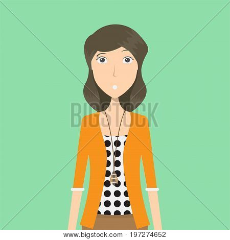 Flight Attendant Character Female | set of vector character illustration use for human, profession, business, marketing and much more.The set can be used for several purposes like: websites, print templates, presentation templates, and promotional materia