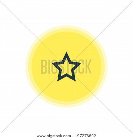 Beautiful User Element Also Can Be Used As Asterisk Element.  Vector Illustration Of Star Icon.