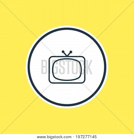 Beautiful Movie Element Also Can Be Used As Tv Element.  Vector Illustration Of Television Outline.