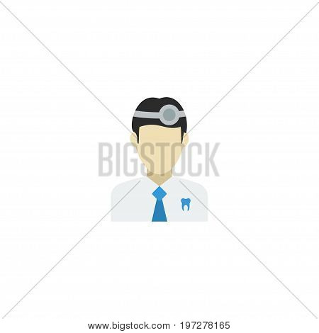 Flat Icon Dentist Element. Vector Illustration Of Flat Icon Orthodontist Isolated On Clean Background