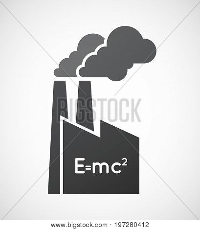 Isolated Factory With The Theory Of Relativity Formula