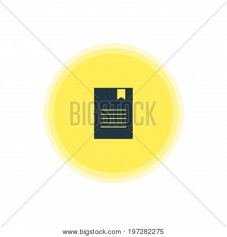 Beautiful Online Element Also Can Be Used As Bookmark Element.  Vector Illustration Of Document Icon.