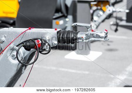 fuel pumps at a gas station. grey tones