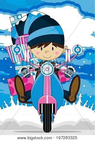 Elf On Scooter 7