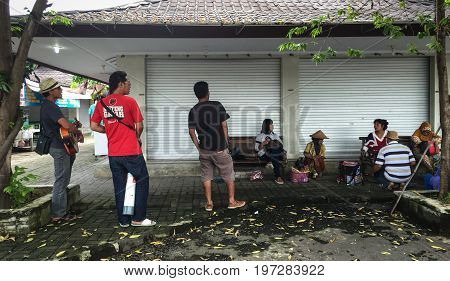 Music Band On Street In Yogya, Indonesia
