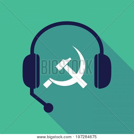 Long Shadow  Headset With  The Communist Symbol