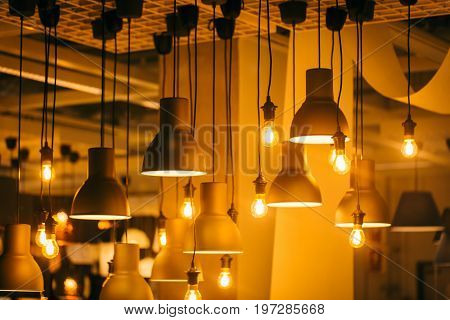 Retro Industrial Loft Style Hanging Tungsten Lamp Bulb Decoration Old Vintage Modern Home.