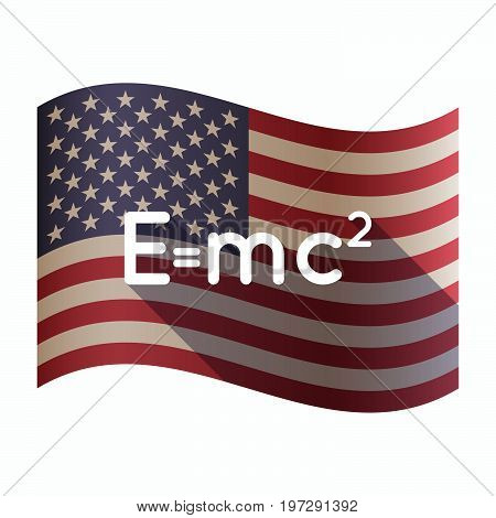 Isolated  Usa Flag With The Theory Of Relativity Formula