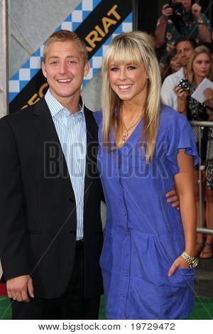 LOS ANGELES - SEP 30:  Jordan Hightower (Brother), Chelsie Hightower arrives at the