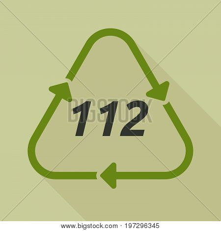 Long Shadow Recycle Sign With    The Text 112