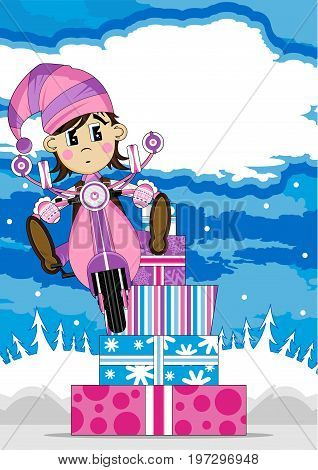 Elf On Scooter 21