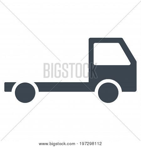Truck Chassis vector icon. Flat smooth blue symbol. Pictogram is isolated on a white background. Designed for web and software interfaces.
