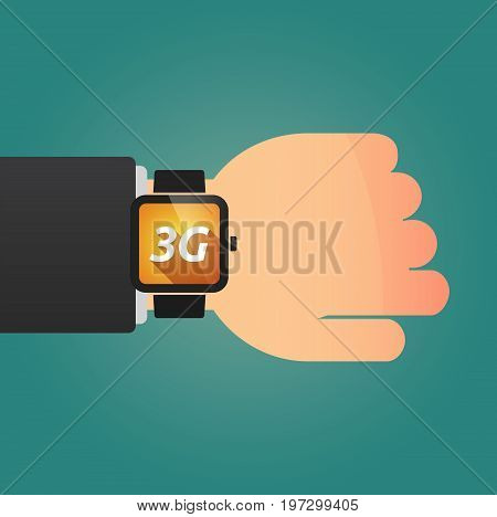 Hand With A Smart Watch And    The Text 3G