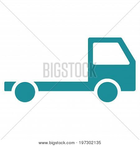 Truck Chassis vector icon. Flat soft blue symbol. Pictogram is isolated on a white background. Designed for web and software interfaces.