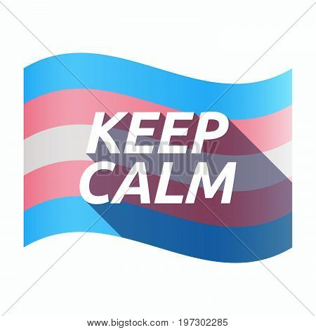 Isolated Transgender Flag With    The Text Keep Calm