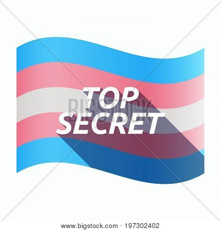 Isolated Transgender Flag With    The Text Top Secret