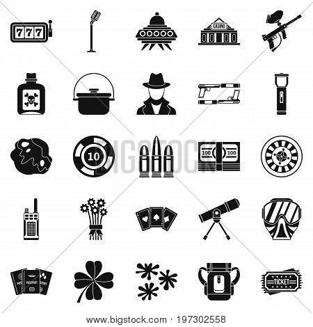 Adult icons set. Simple set of 25 adult icons for web isolated on white background
