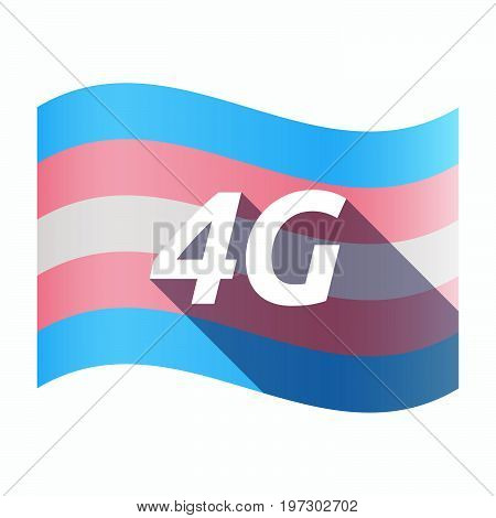 Isolated Transgender Flag With    The Text 4G