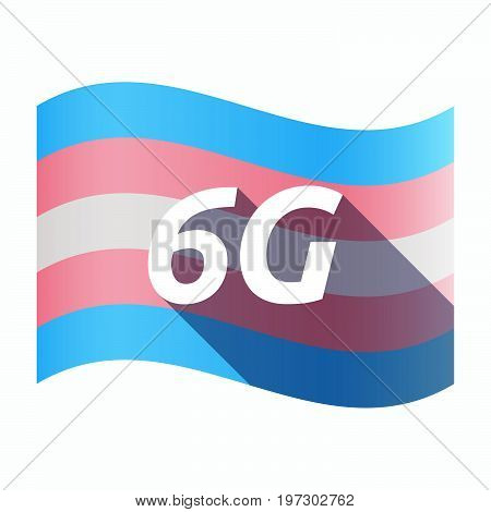 Isolated Transgender Flag With    The Text 6G