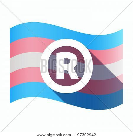 Isolated Transgender Flag With    The Registered Trademark Symbol