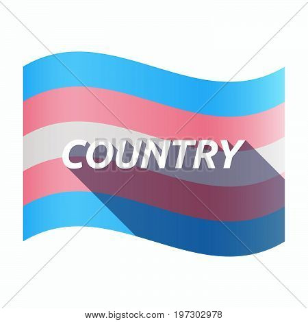 Isolated Transgender Flag With    The Text Country